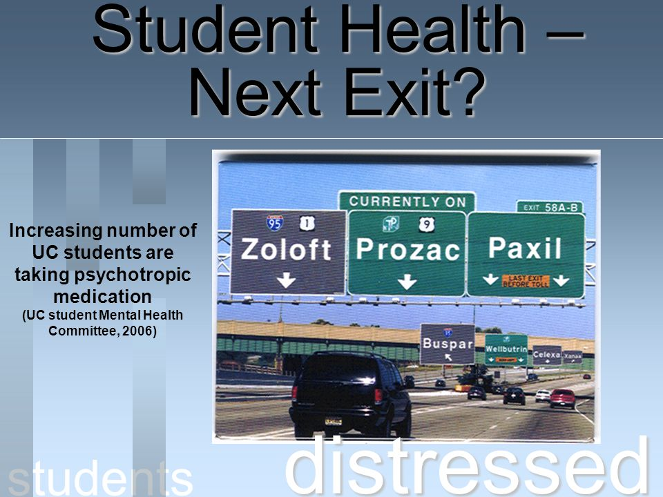 distressed Student Health – Next Exit students Increasing number of