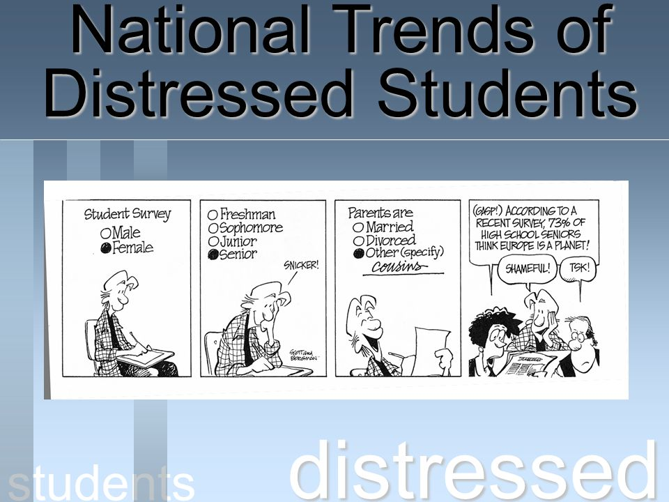 National Trends of Distressed Students distressed students