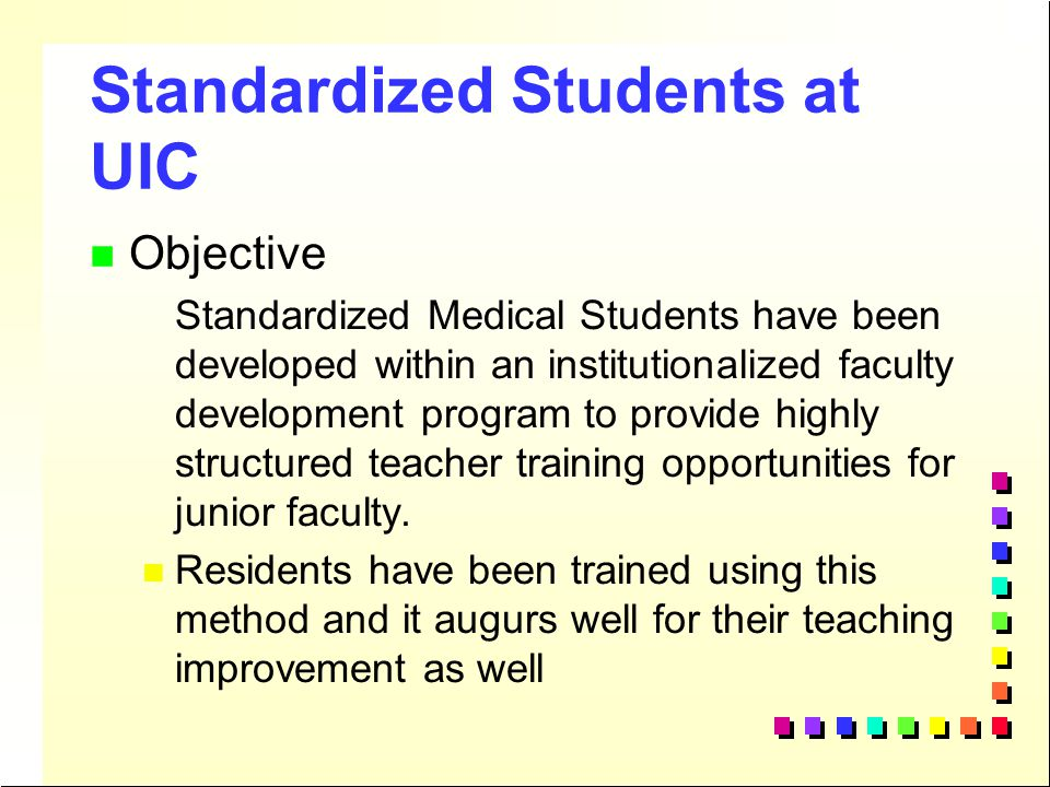 Standardized Students at UIC
