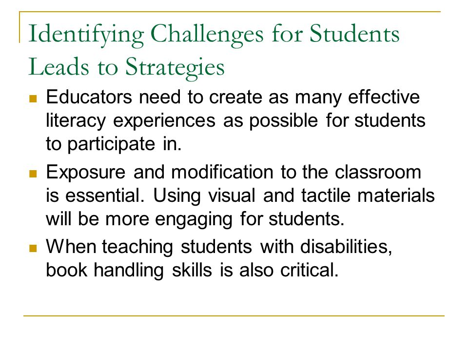 Identifying Challenges for Students Leads to Strategies
