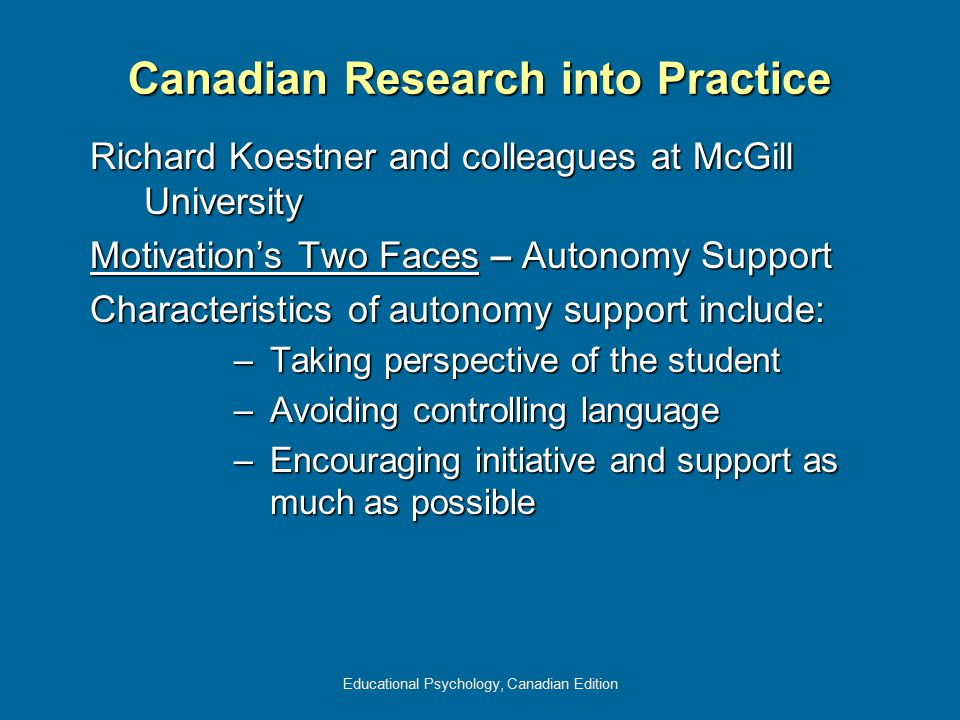 Canadian Research into Practice