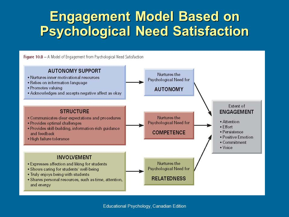 Engagement Model Based on Psychological Need Satisfaction