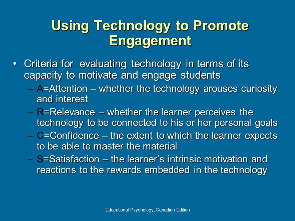 Using Technology to Promote Engagement