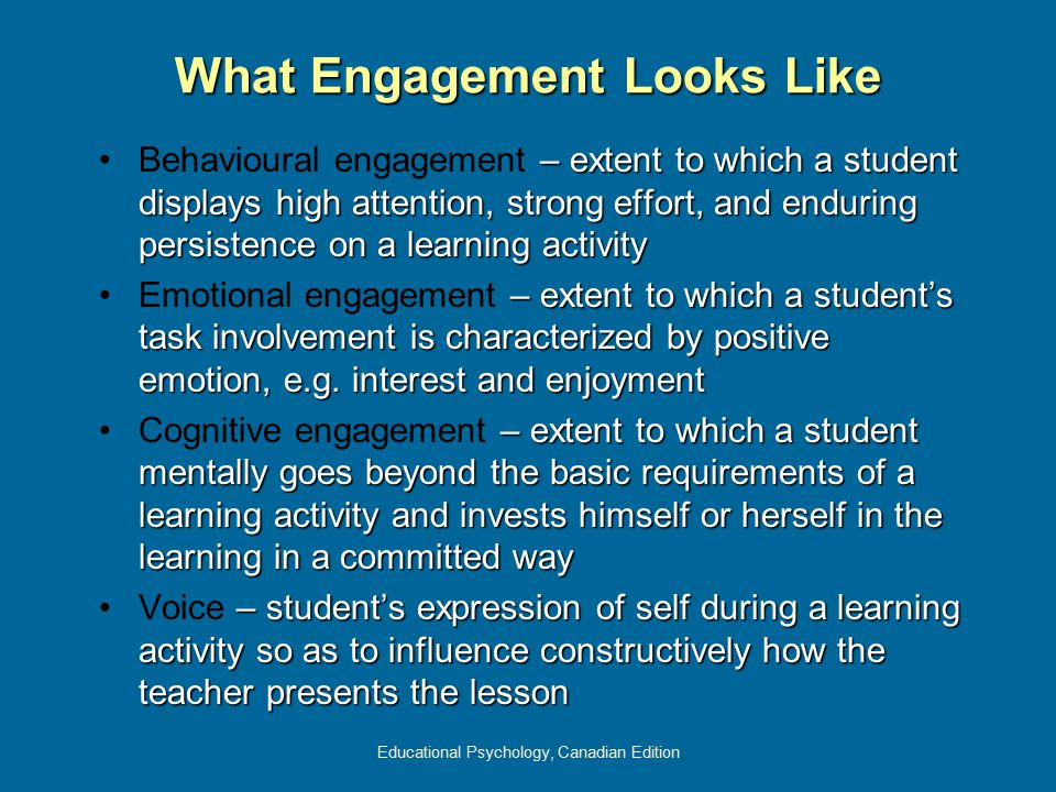 What Engagement Looks Like