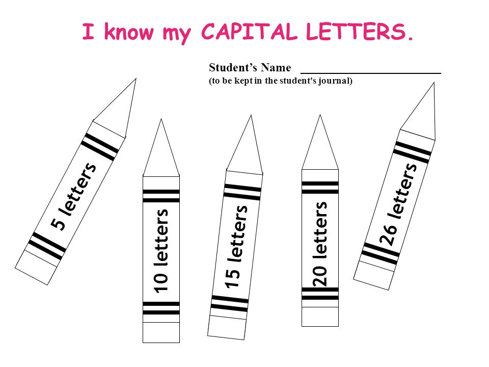 I know my CAPITAL LETTERS.