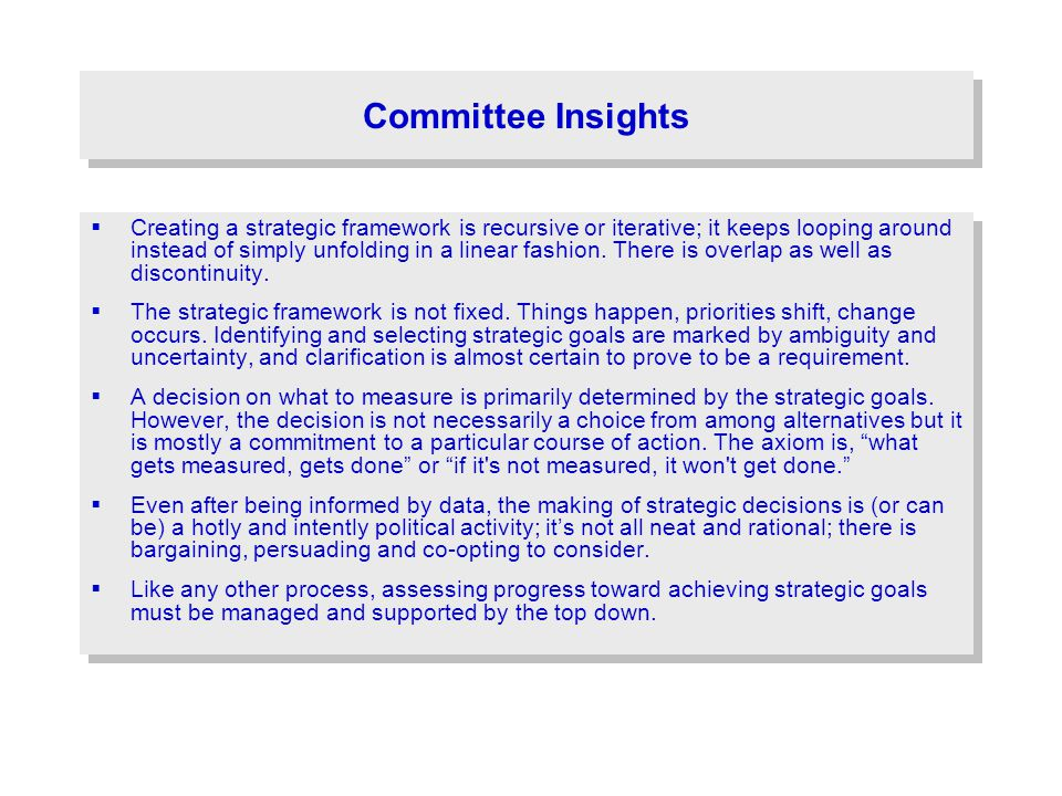 Committee Insights