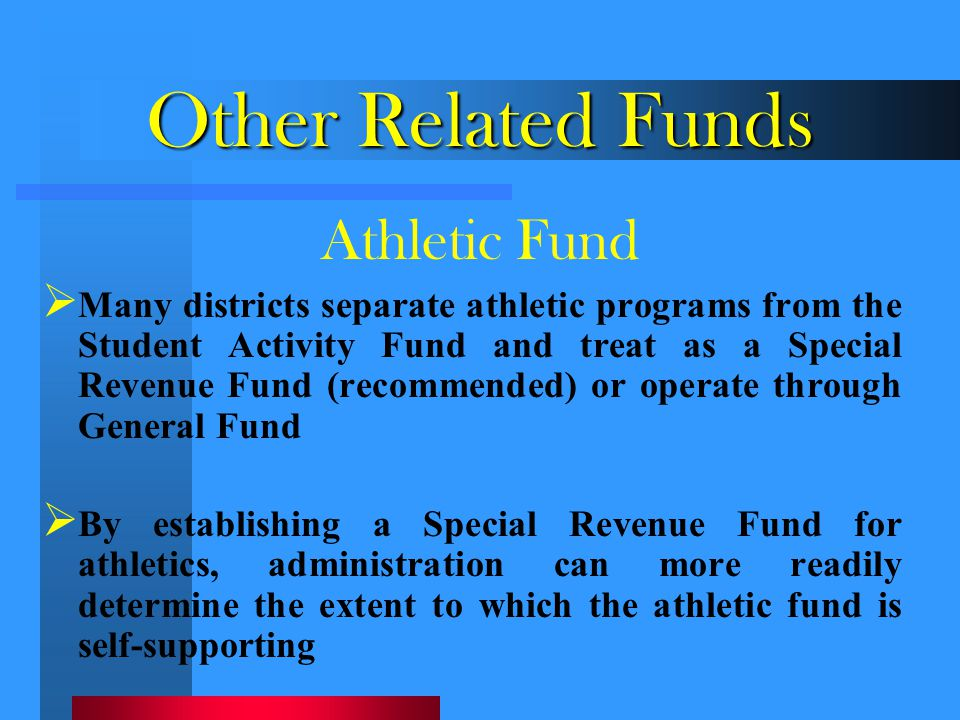 Other Related Funds Athletic Fund