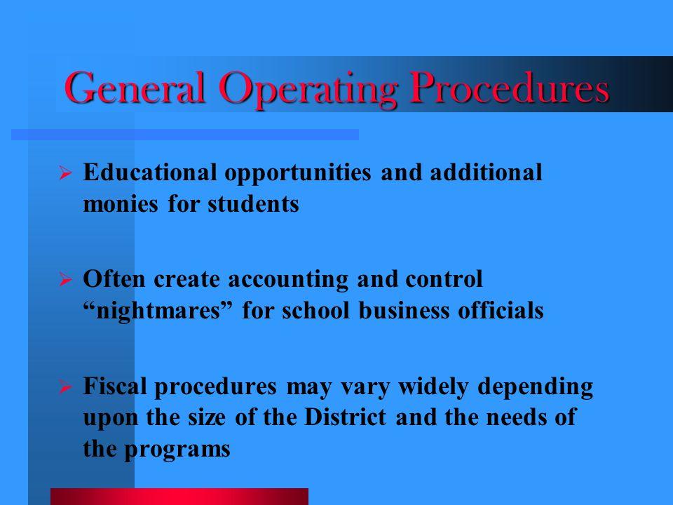 General Operating Procedures