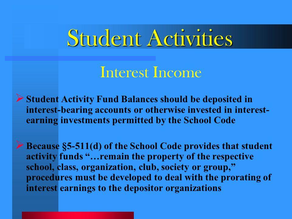 Student Activities Interest Income