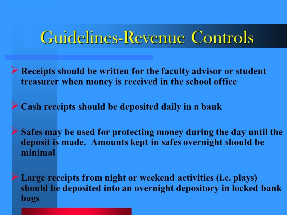 Guidelines-Revenue Controls