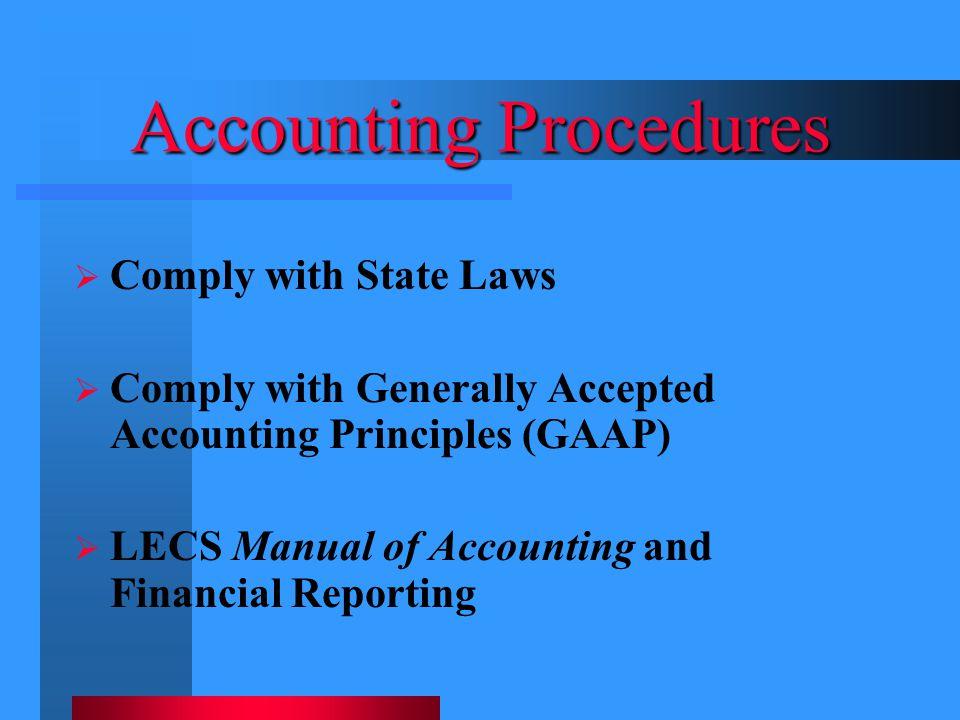 Accounting Procedures