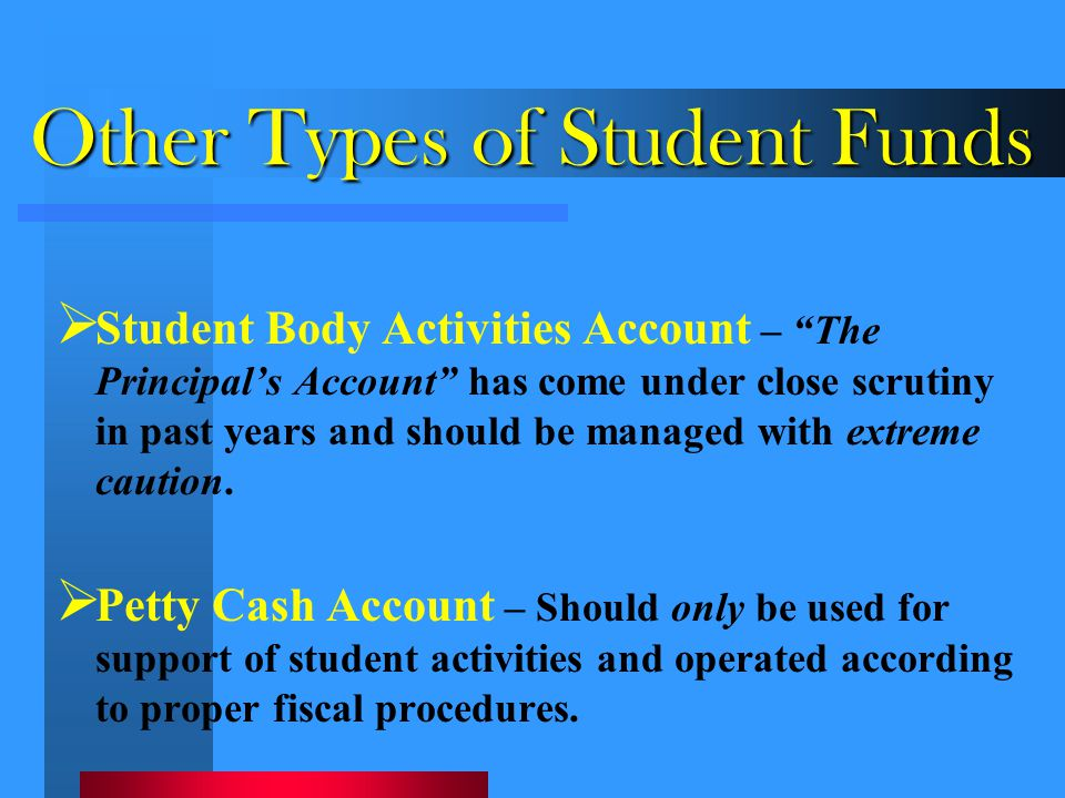 Other Types of Student Funds
