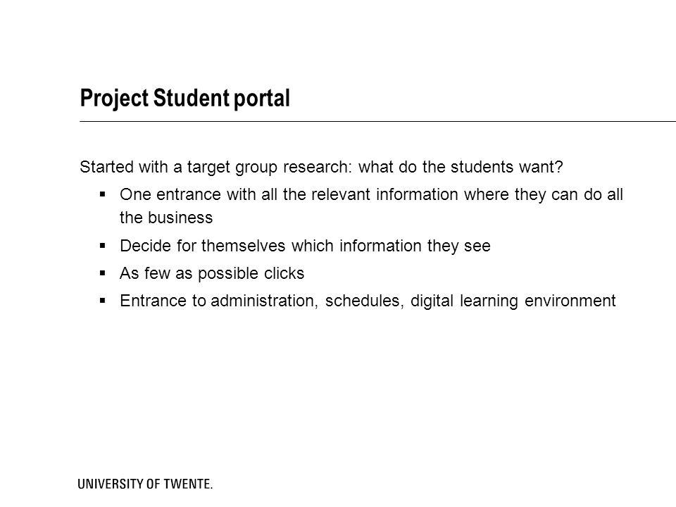 Project Student portal