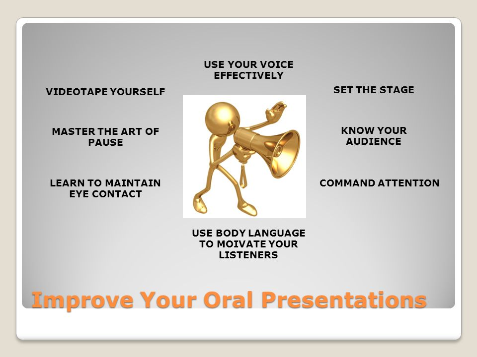 Improve Your Oral Presentations