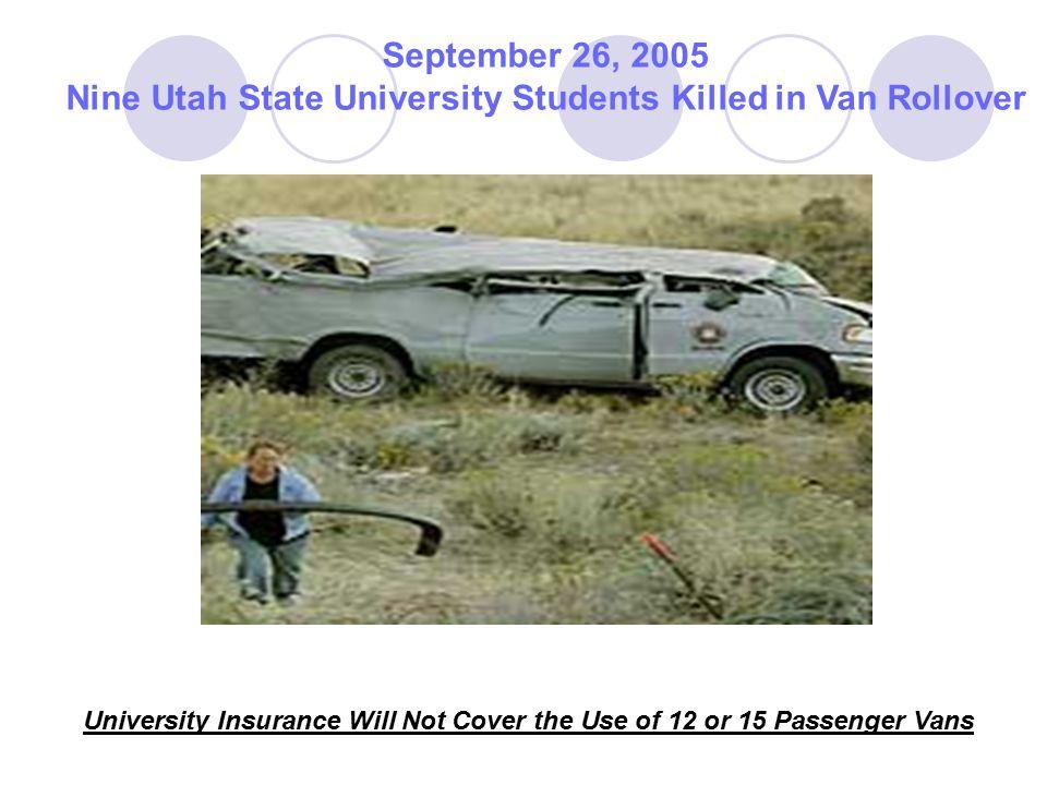 Nine Utah State University Students Killed in Van Rollover