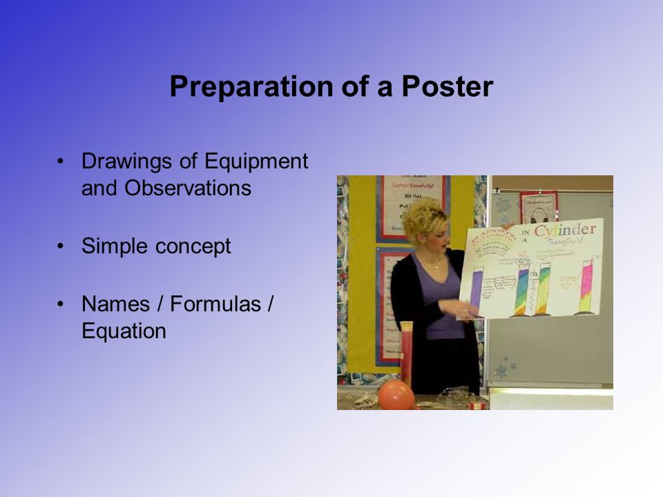 Preparation of a Poster