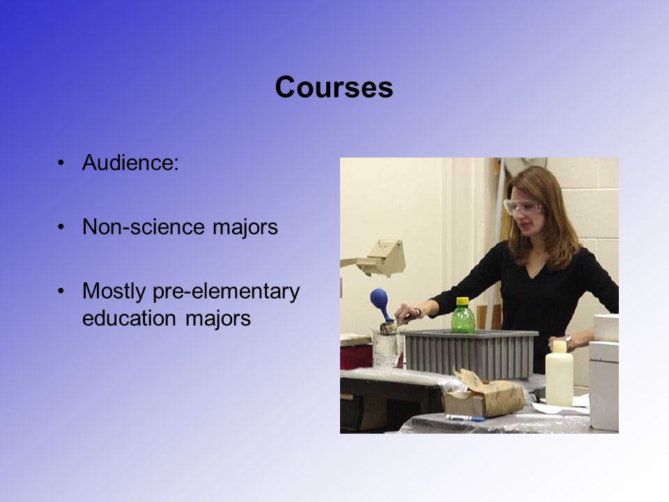 Courses Audience: Non-science majors