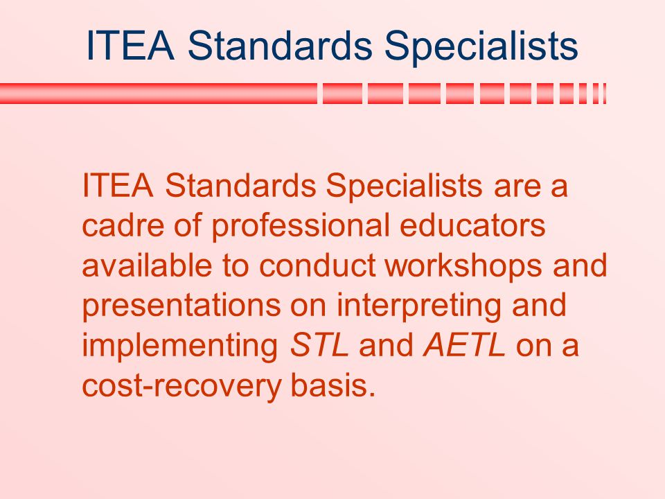 ITEA Standards Specialists