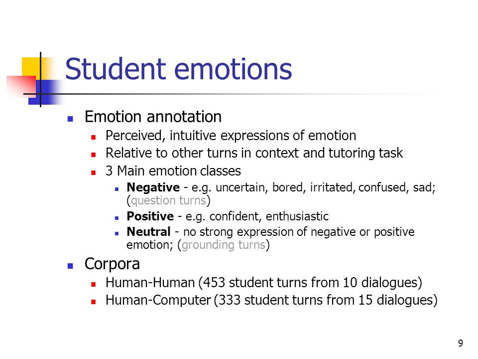 Student emotions Emotion annotation Corpora