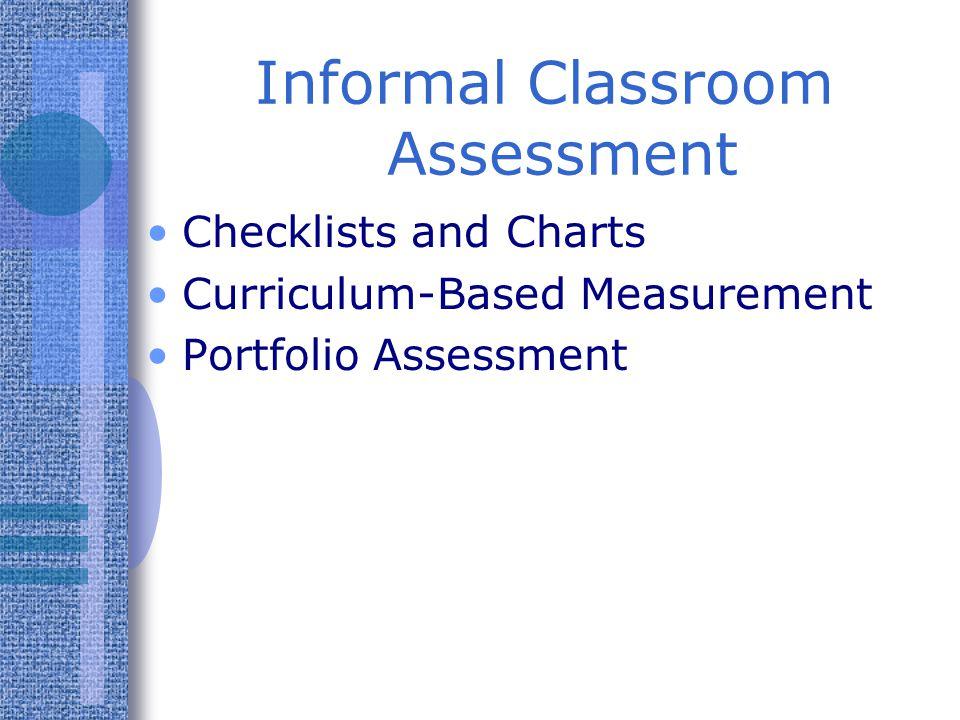 Informal Classroom Assessment