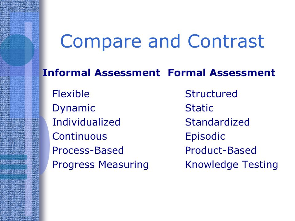 "contrast assessments in education Assessment and evaluation are independent process and practices and they seem underused in the field of adult and continuing education field if this trend continues, program decisions will continue, ""to reflect the interests of the stakeholders with power and resources"" (knox, 2002, p."