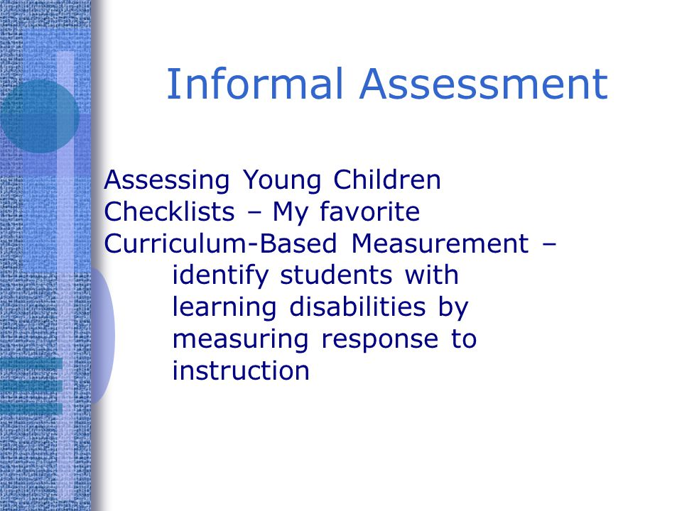 Informal Assessment Assessing Young Children Checklists – My favorite