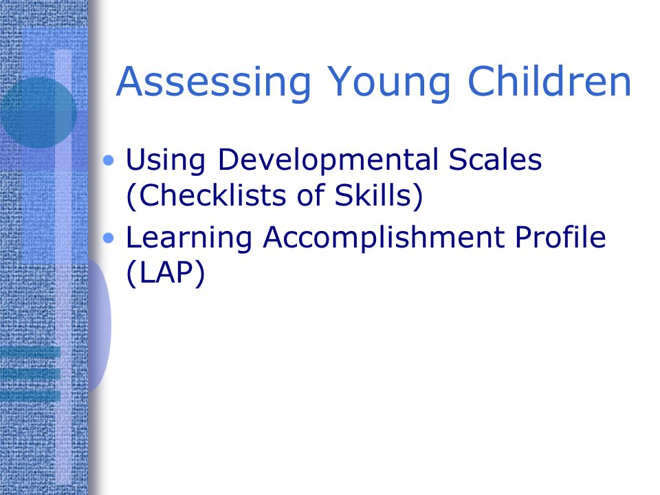 Assessing Young Children