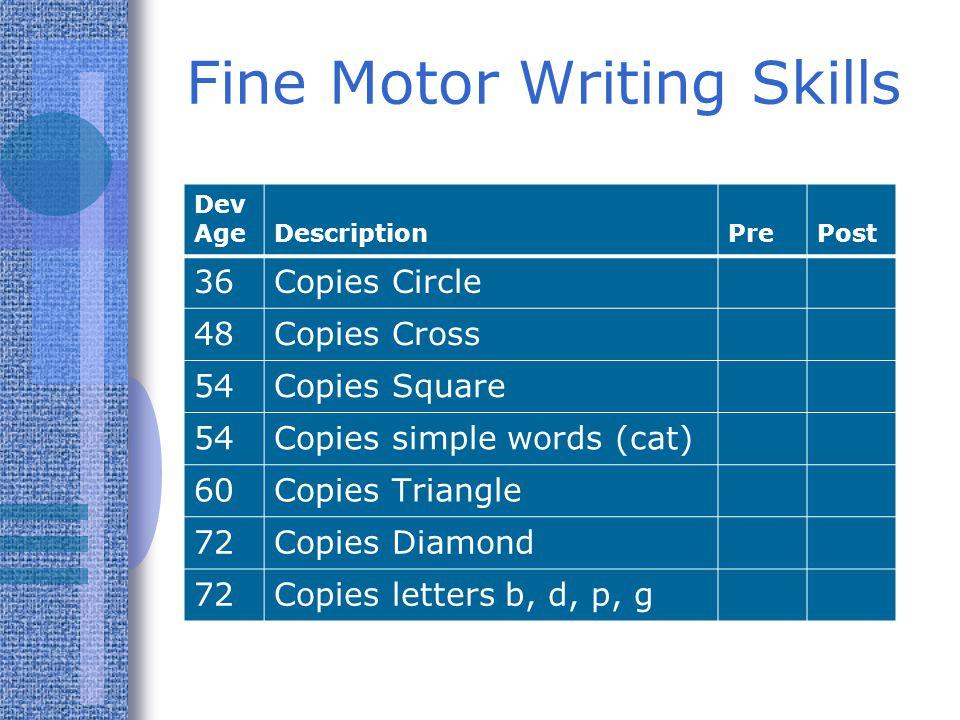 Fine Motor Writing Skills
