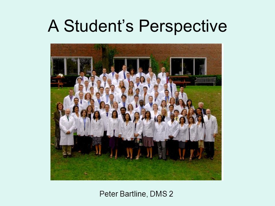 A Student's Perspective