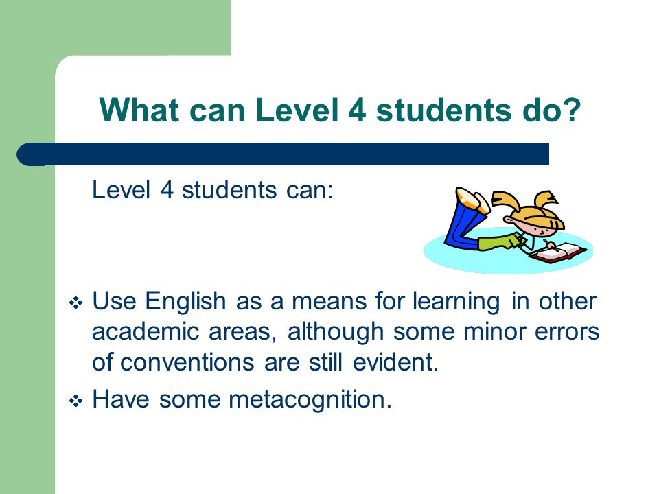 What can Level 4 students do