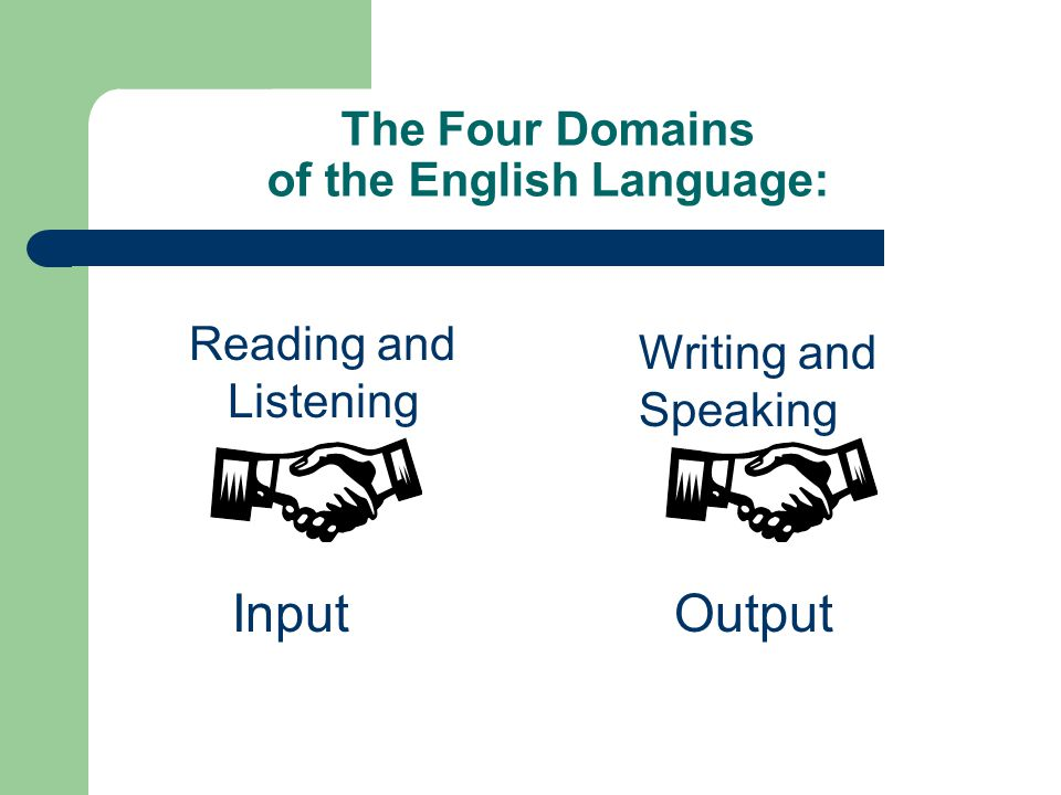 The Four Domains of the English Language: