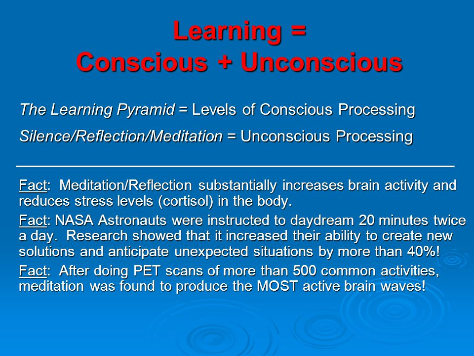 Learning = Conscious + Unconscious