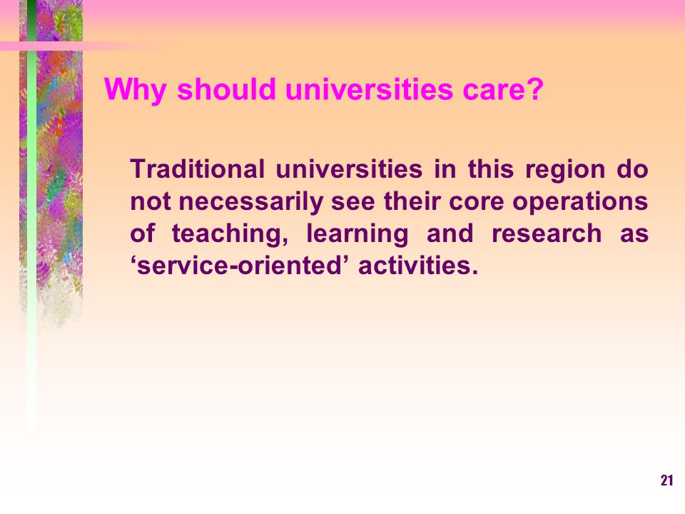 Why should universities care