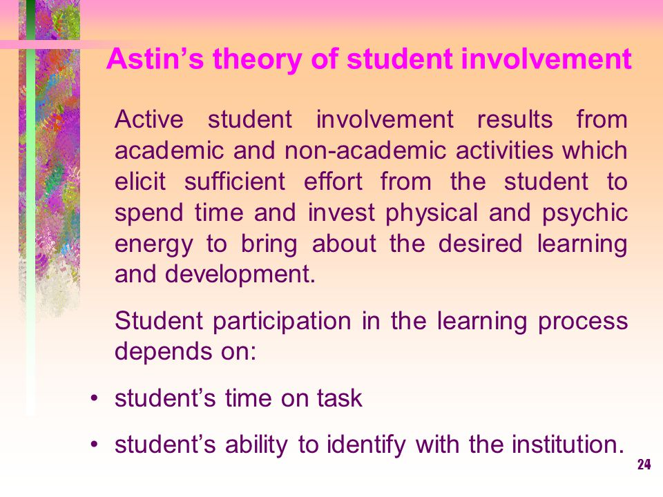 Astin's theory of student involvement