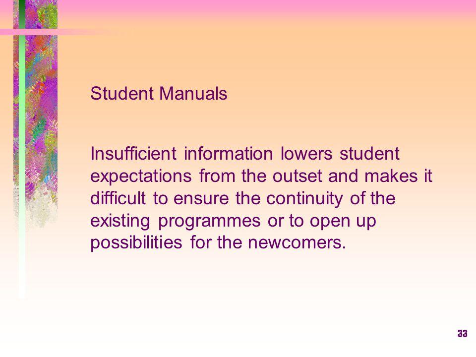 Student Manuals