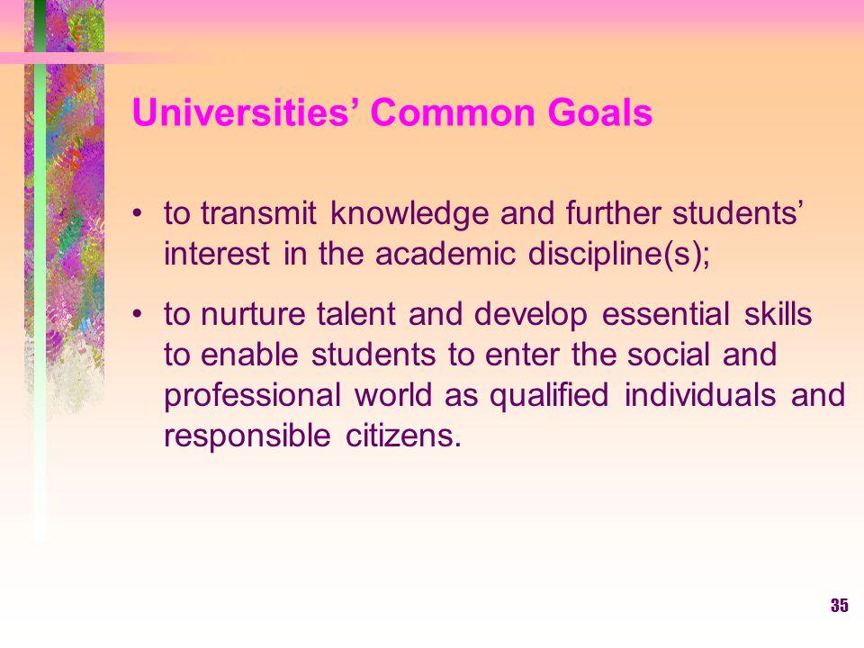 Universities' Common Goals