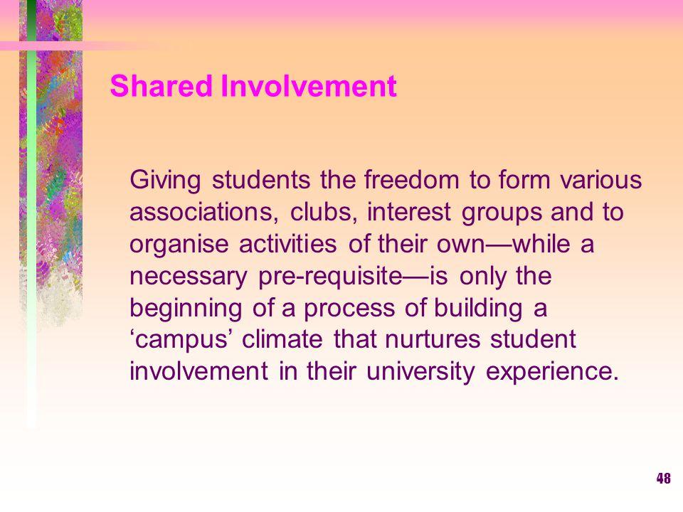 Shared Involvement