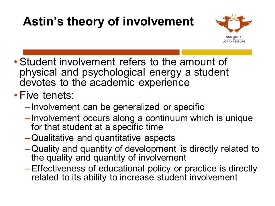 Astin's theory of involvement