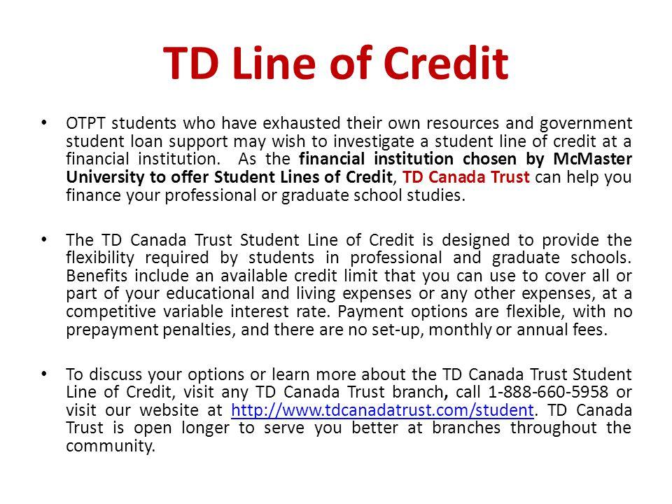 TD Line of Credit