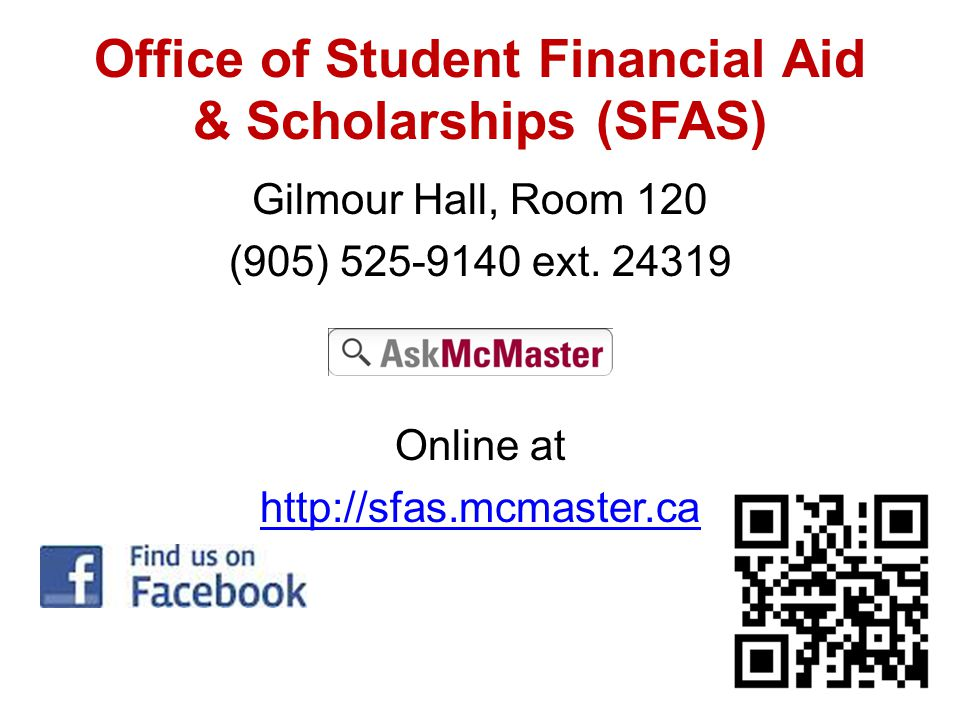Office of Student Financial Aid & Scholarships (SFAS)
