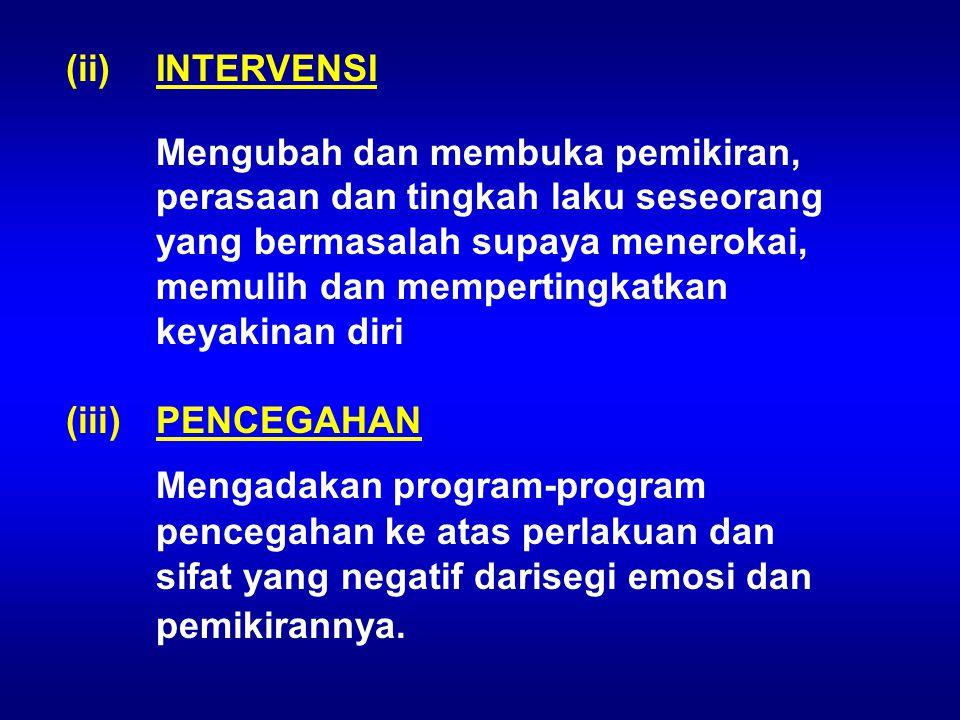 (ii) INTERVENSI