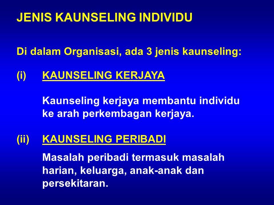 JENIS KAUNSELING INDIVIDU
