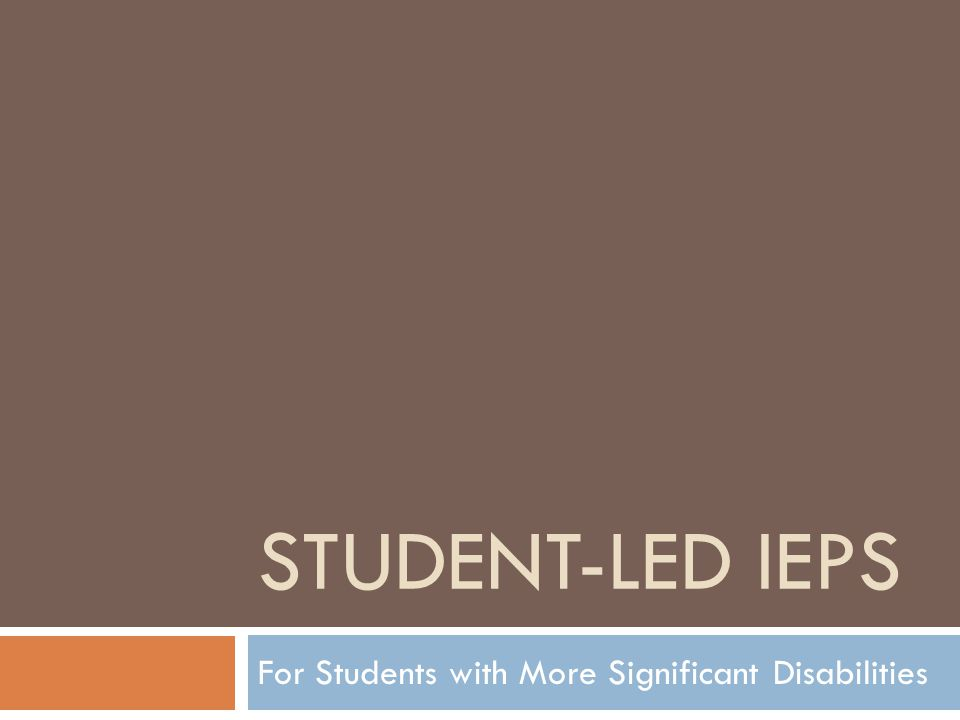 For Students with More Significant Disabilities