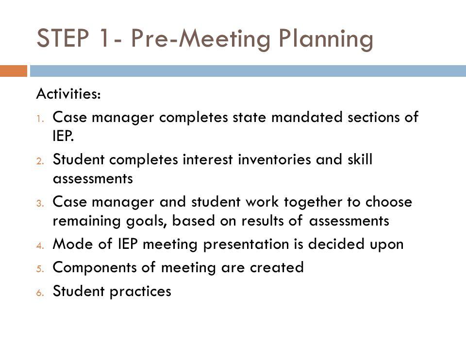 STEP 1- Pre-Meeting Planning
