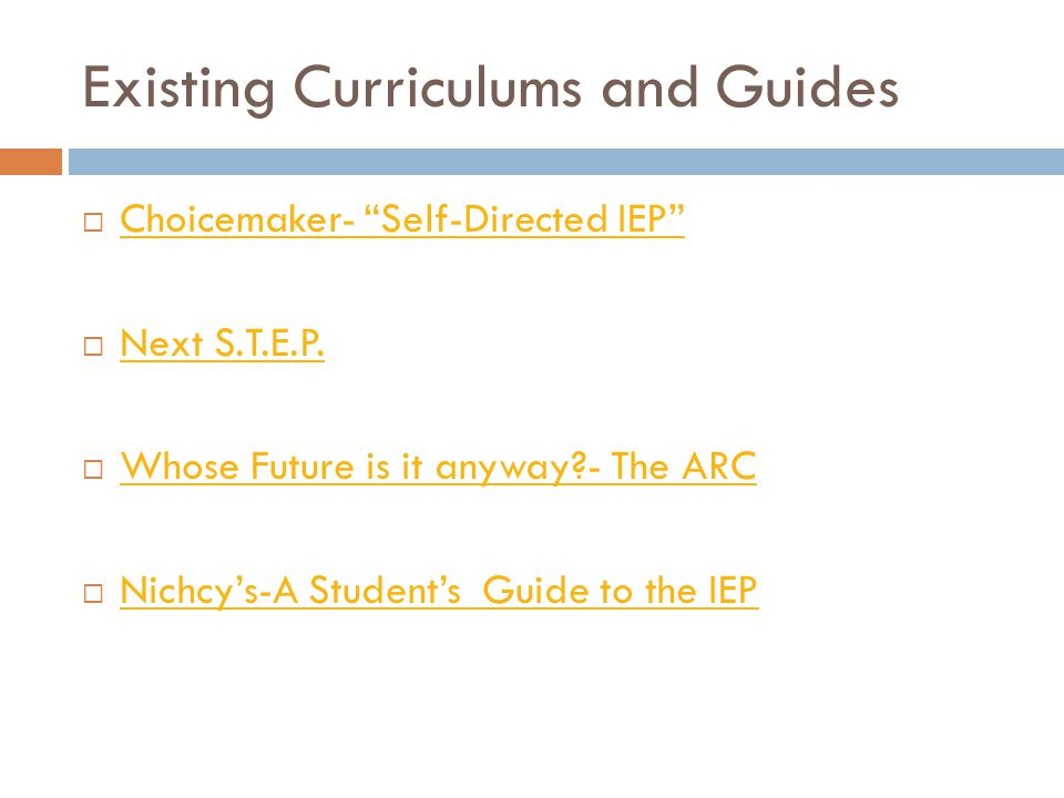 Existing Curriculums and Guides