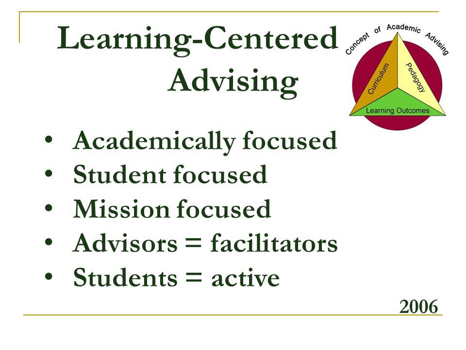 Learning-Centered d Advising