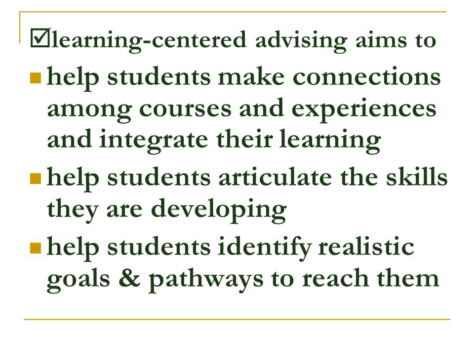 help students articulate the skills they are developing