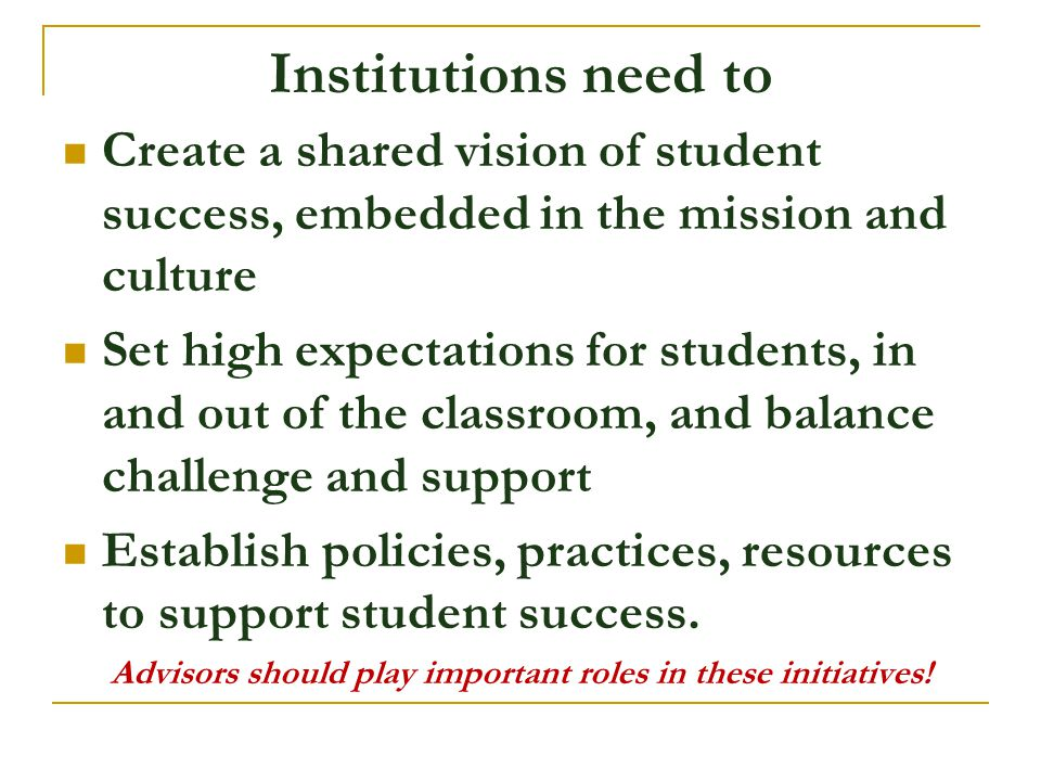 Advisors should play important roles in these initiatives!