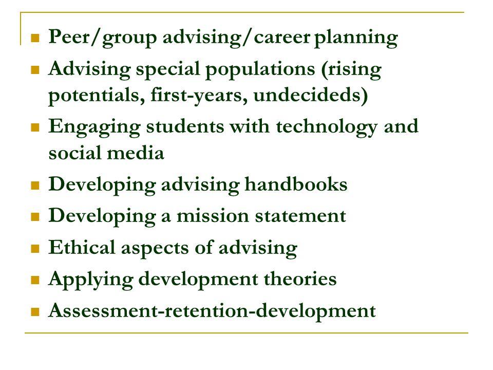 Peer/group advising/career planning