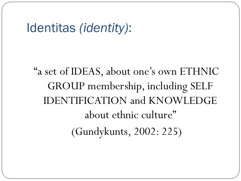 Identitas (identity):